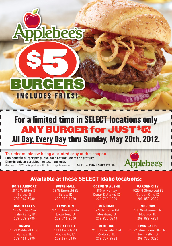 Applebees coupon code
