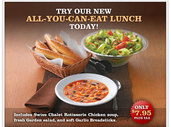 Swiss Chalet New All You Can Lunch Duzzee